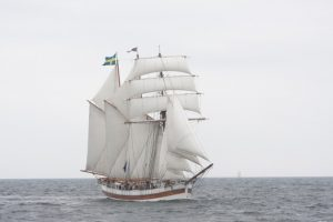 Tall Ship Vega Gambely under sails