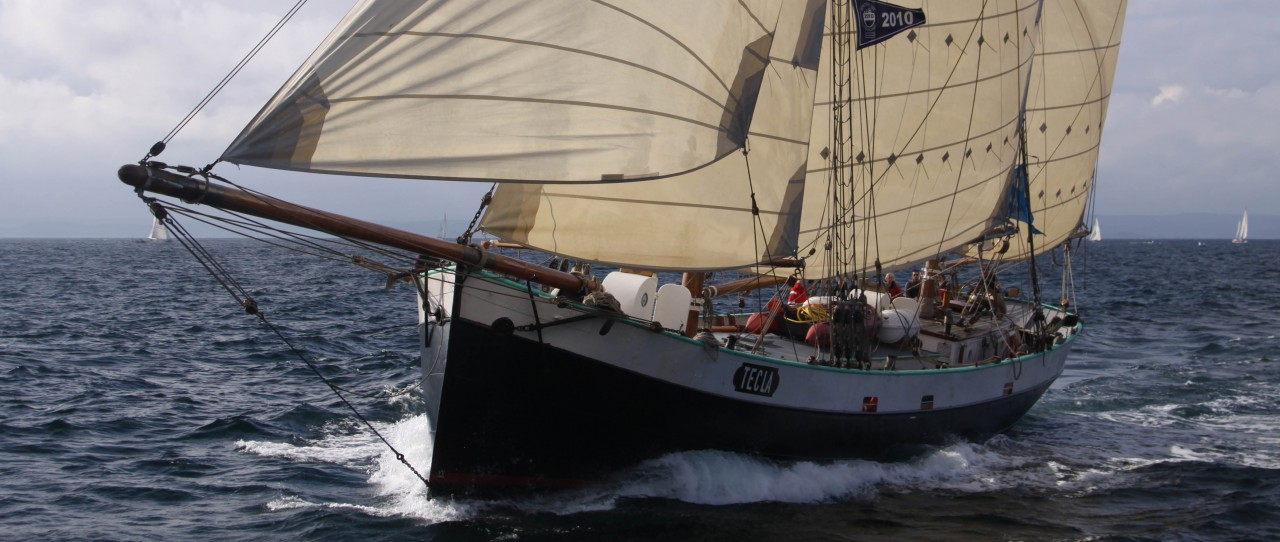 Tecla under sail