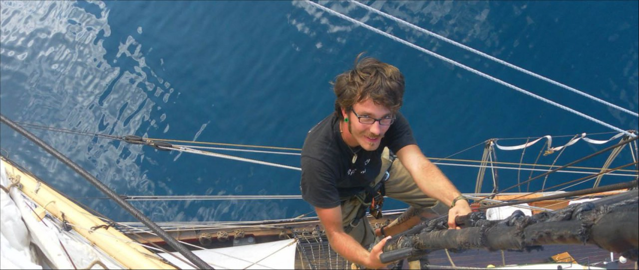 Picton-castle-trainee-mast-climbing-windseeker-adventure-journey-tall-ship-races-sail-training-on-board-adventure