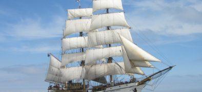 Picton Castle sailing all sails