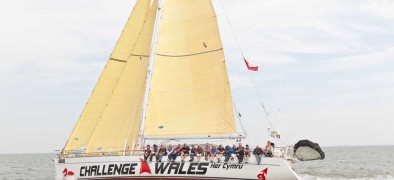 Picture of the Yacht Challenge Wales Sailing on the sea