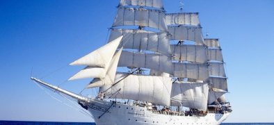 Tall Ship Christian Radich under sail