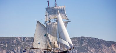 Pictured: Tall Ship Wylde Swan sailing