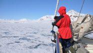 Anne-Margaretha sailing among ice