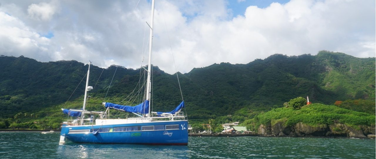 Picture of the Yacht Ya on anchor