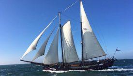 Sailing vessel Twister on the sea
