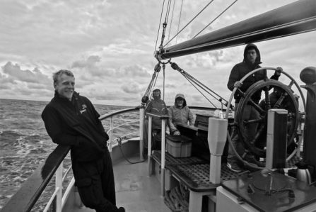 Picture of people on board the Tall Ship Morgenster
