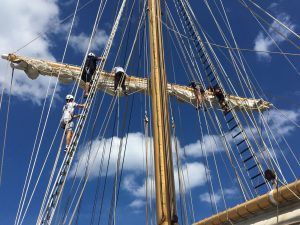Photo of trainees of Santa Maria Manuela working aloft