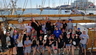 Vega Gamleby Trainees and Crew before Esbjerg Crew Parade 2018
