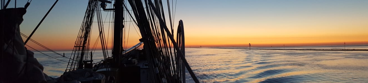 Sailing into the sunset on board a Tall Ship