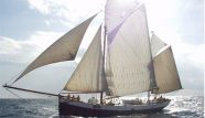 Photo of the traditional Dutch ship Tecla sailing